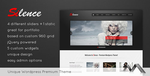 Silence WordPress Theme - New Portfolio WordPress Themes from ThemeForest