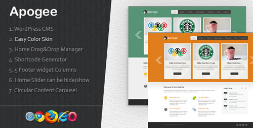 Apogee: A Creative WordPress CMS Theme - New Portfolio WordPress Themes from ThemeForest
