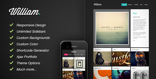 William - Portfolio WordPress Theme - New Portfolio WordPress Themes from ThemeForest