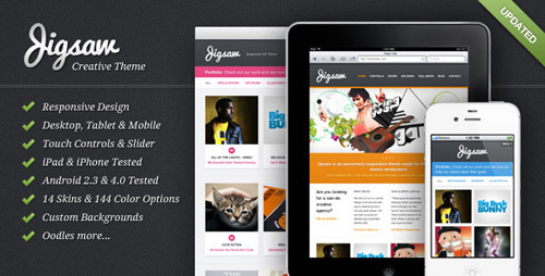 Jigsaw - Responsive WordPress Theme - New Portfolio WordPress Themes from ThemeForest