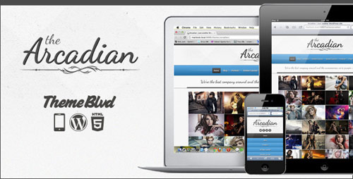 The Arcadian Responsive WordPress Theme - New Portfolio WordPress Themes from ThemeForest