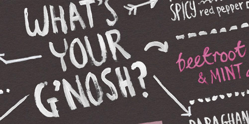 G'nosh - well design websites with big typography