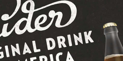 Cider - well design websites with big typography