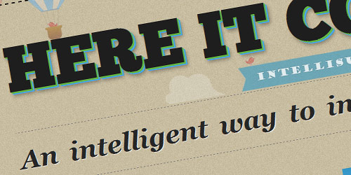 Intellisult - well design websites with big typography