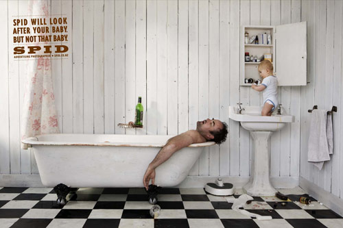 Spid Advertising Photographer: Baby - controversial print ads