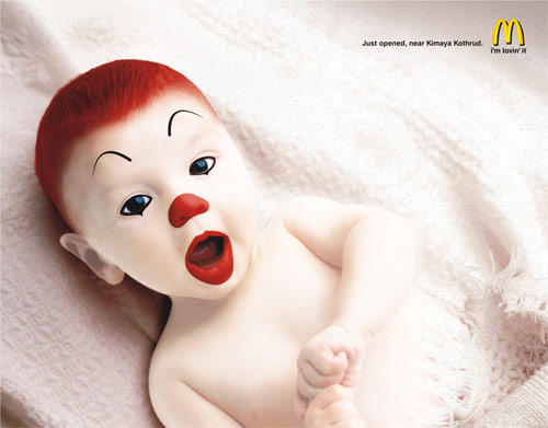 McDonald's: Baby Ronald - controversial print ads