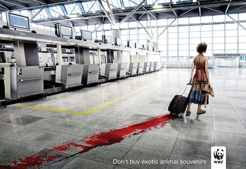 WWF: Blood - controversial print ads