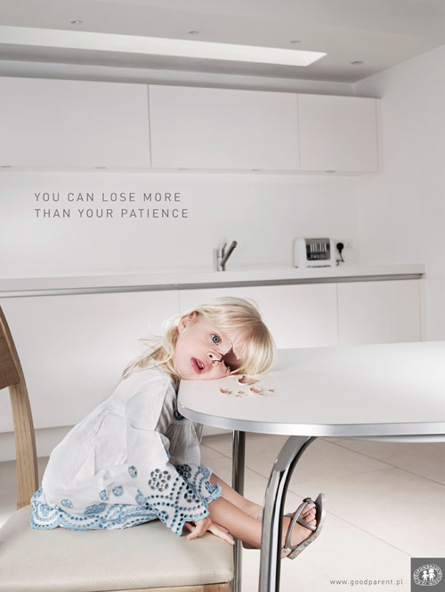 Good Parent: Girl - controversial print ads