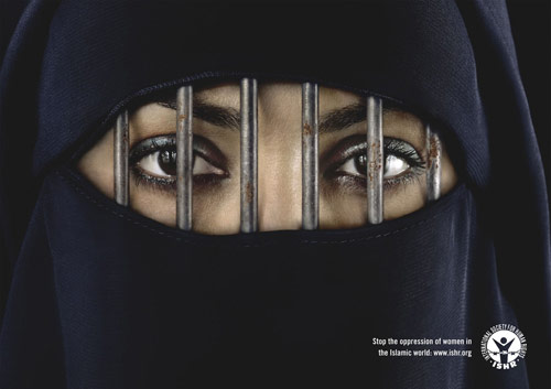 International Society for Human Rights: Burka - controversial print ads