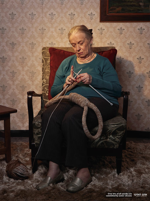 Community For The Elderly: Hangman's noose - controversial print ads