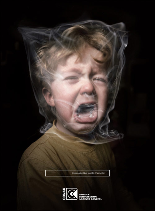 CONAC Chilean Corporation Against Cancer: Brown - controversial print ads