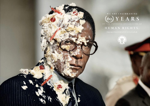 International Society for Human Rights: Mugabe - controversial print ads