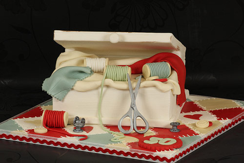 Sewing Box Cake - Creative Cake Designs