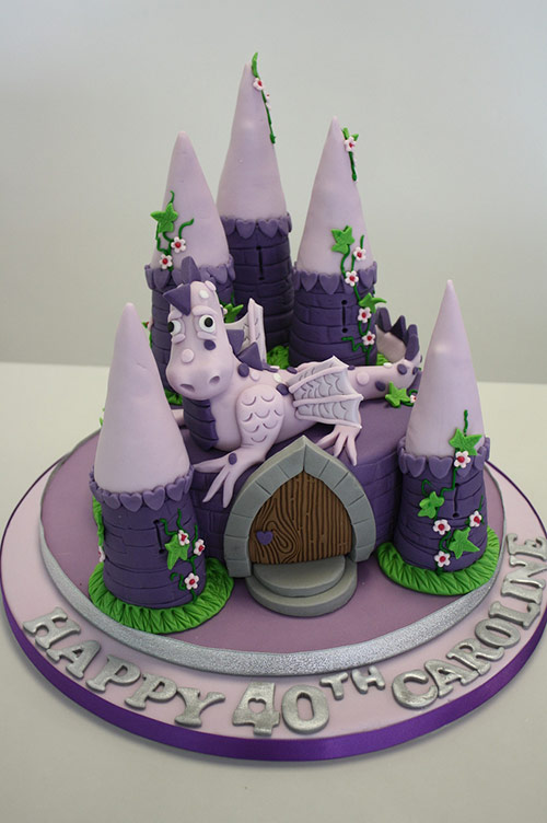 Cake - Purple dragon - Creative Cake Designs