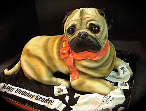 25 pug cake in 40 Creative Cake Designs Which Will Make You Look Twice