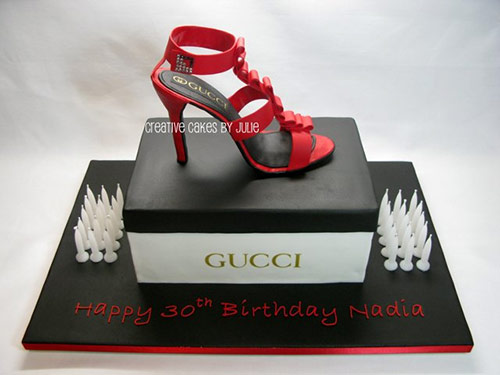 Shoebox and Stiletto Cake - Creative Cake Designs