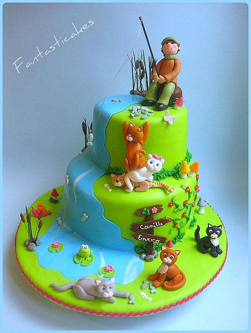 How Much Cats Love Fish! - Creative Cake Designs