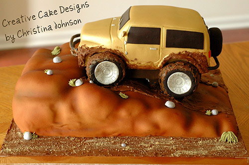 Jeep Wrangler Groom's Cake - Creative Cake Designs