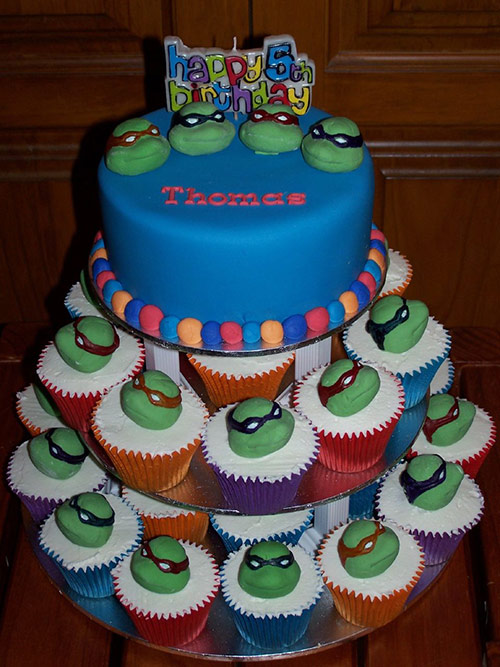 Teenage Mutant Ninja Turtles Cupcake Tower - Creative Cake Designs