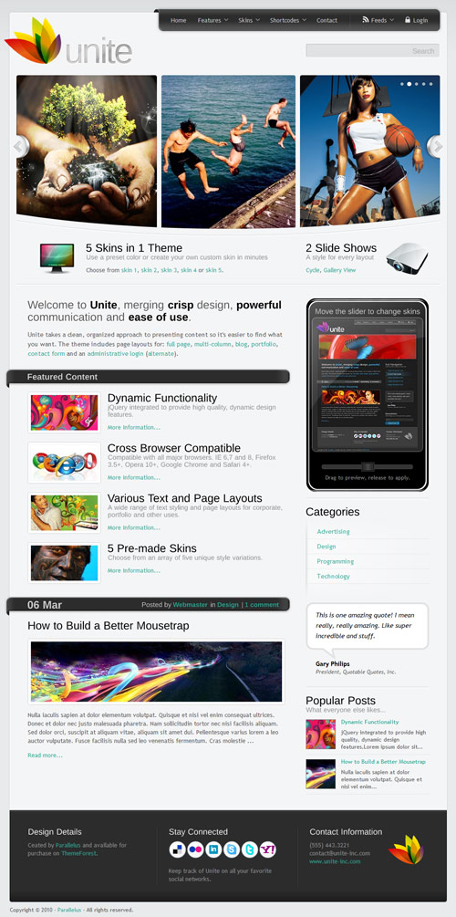 Unite - WordPress Business, Magazine Theme - great magazine wordpress themes