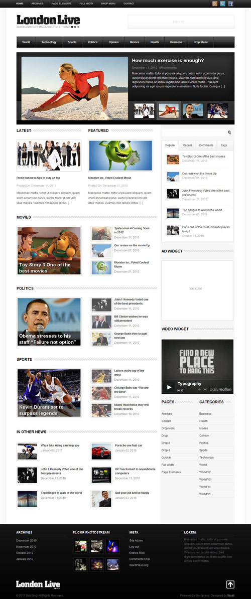 London Live 3 In 1 - News, Magazine And Blog - great magazine wordpress themes