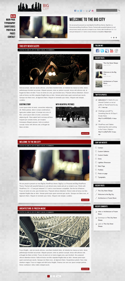 Big City - Personal and Blog WordPress theme - great magazine wordpress themes