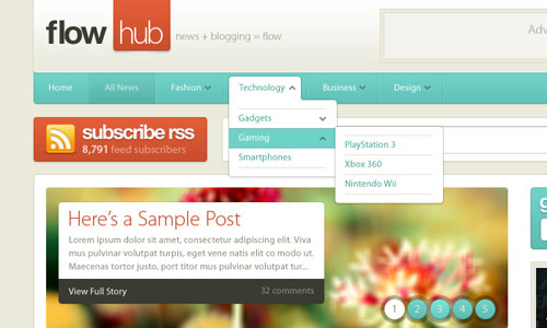 Flowhub - Great Magazine WordPress Theme - great magazine wordpress themes