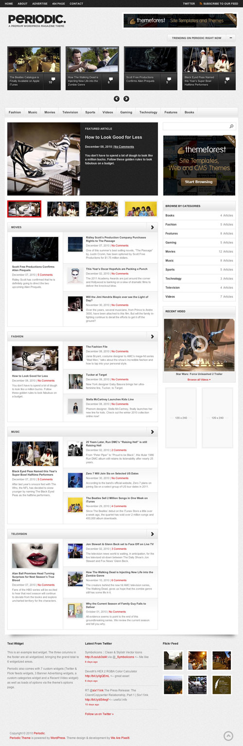 Periodic - A Premium WordPress Magazine Theme - great magazine wordpress themes