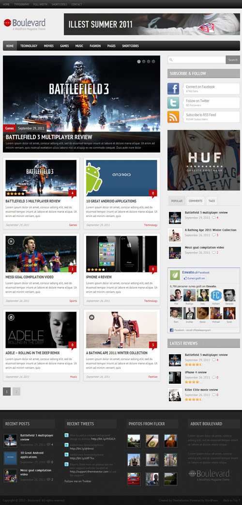 Boulevard - A WordPress Magazine Theme - great magazine wordpress themes