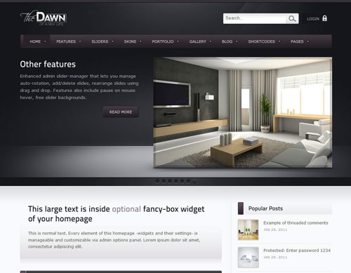 theDawn Premium All-in-one WordPress Theme - great magazine wordpress themes