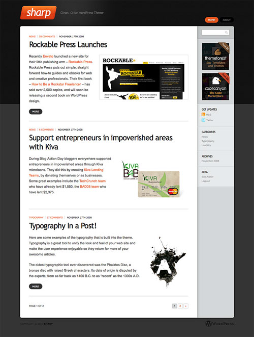 Sharp - Great Magazine Theme - great magazine wordpress themes