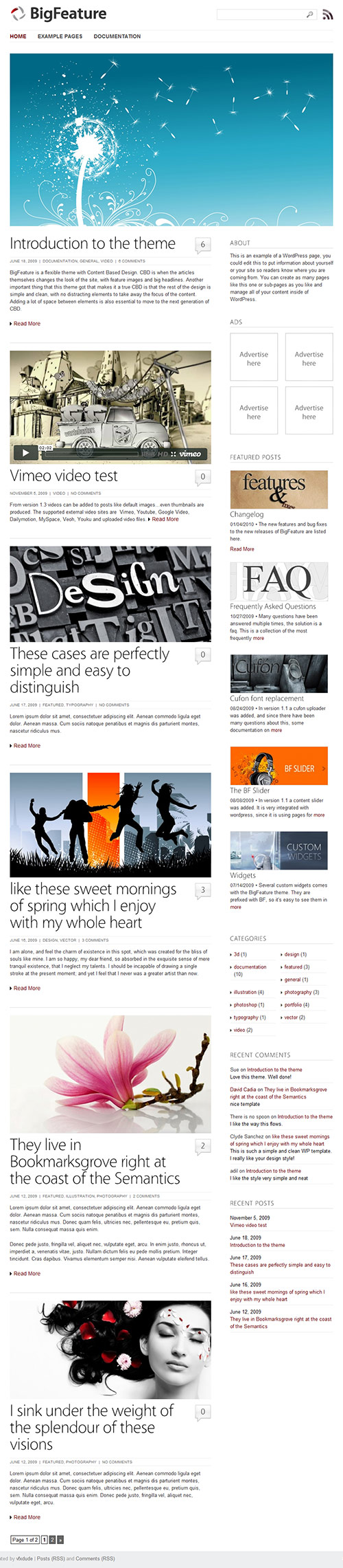 Big Feature - WordPress Theme - great magazine wordpress themes