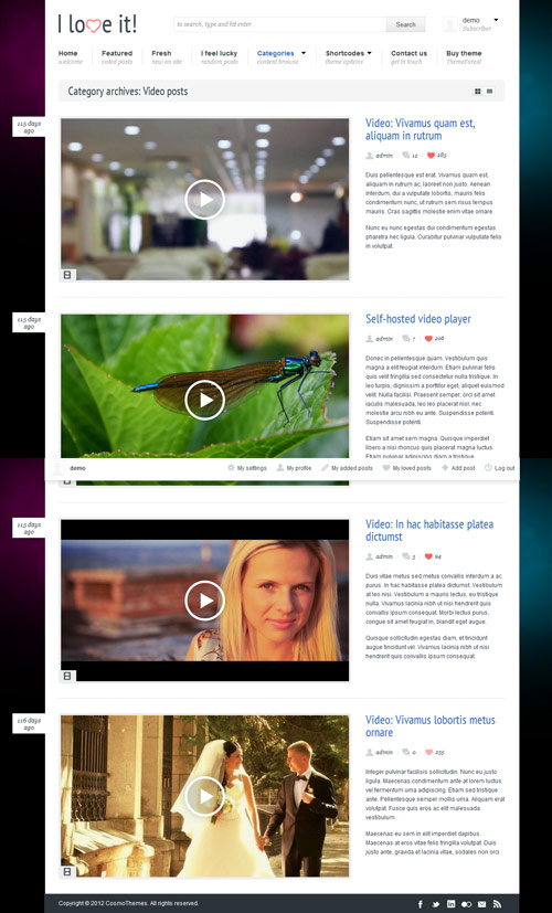 I Love It! - Content Sharing WordPress Theme - great magazine wordpress themes