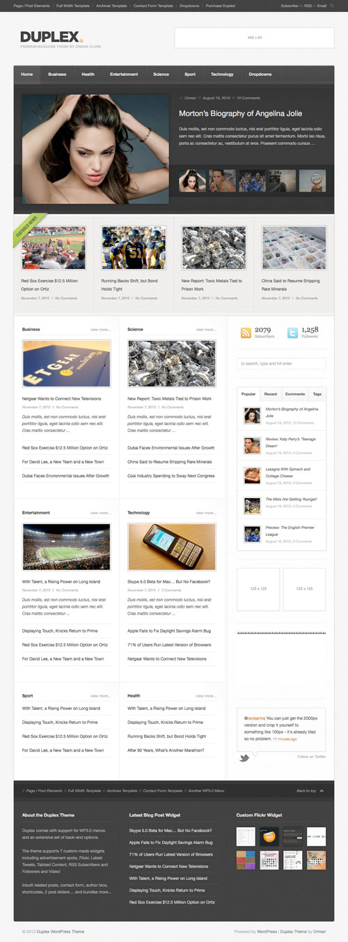Duplex - Magazine / Community / Blog Theme - great magazine wordpress themes