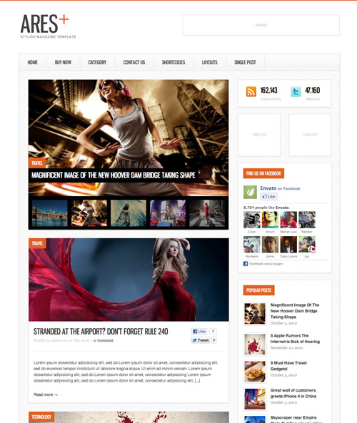 Ares Blog Magazine Newspaper Template - great magazine wordpress themes