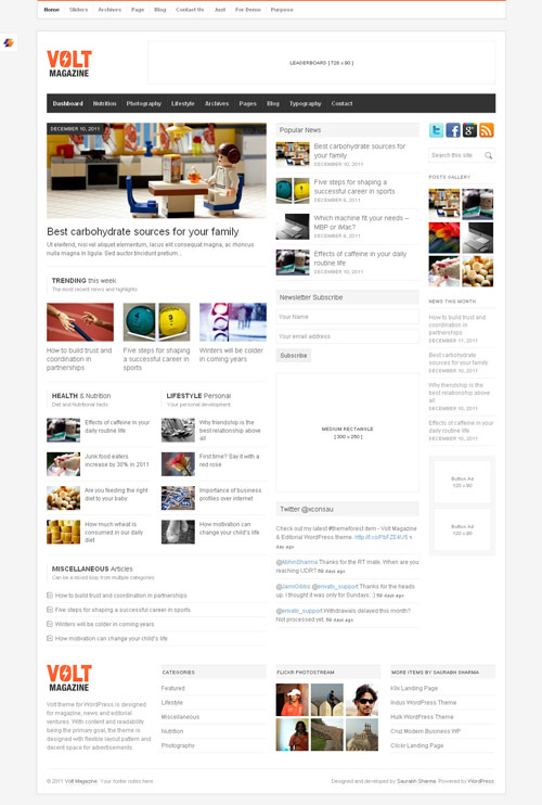 Volt - Magazine / Editorial WordPress Theme - great magazine wordpress themes