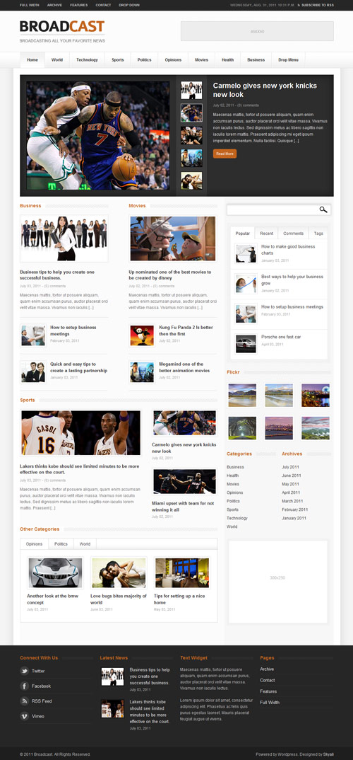 Broadcast - News/Magazine WordPress Theme - great magazine wordpress themes