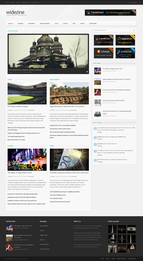 widezine - Magazine / News / Editorial / Community - great magazine wordpress themes