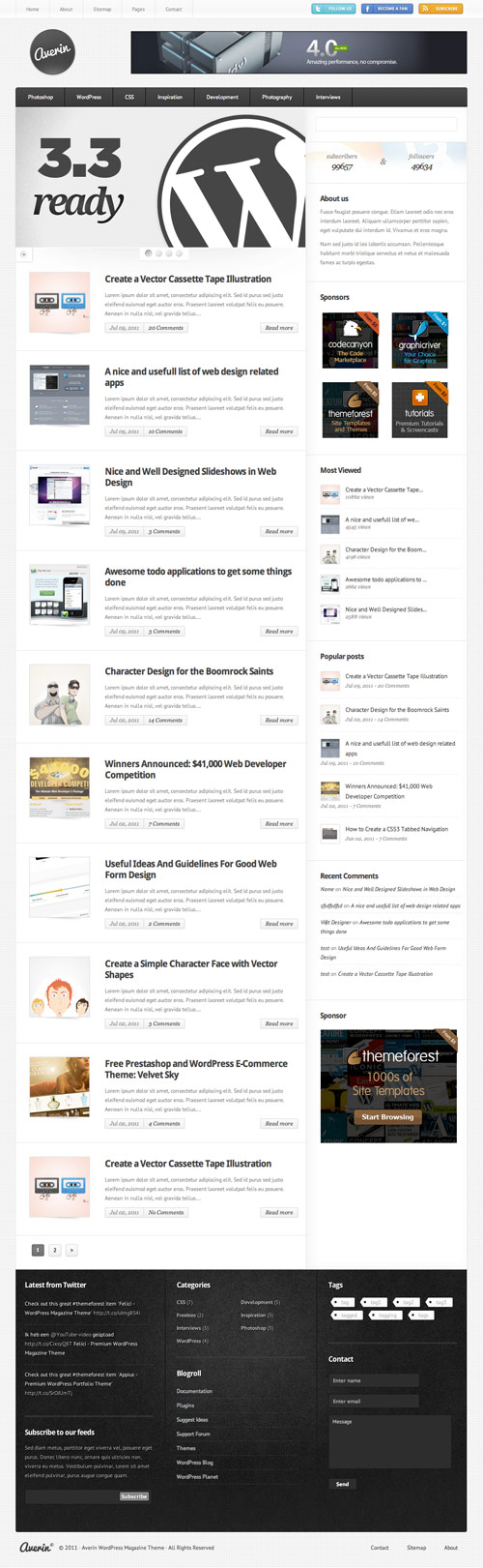 Averin - Premium Magazine Theme - great magazine wordpress themes
