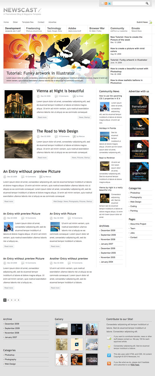 Newscast 4 in 1 - WordPress Magazine and Blog - great magazine wordpress themes