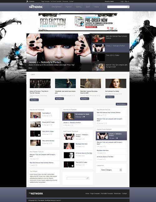 The Network - Magazine WordPress Theme - great magazine wordpress themes