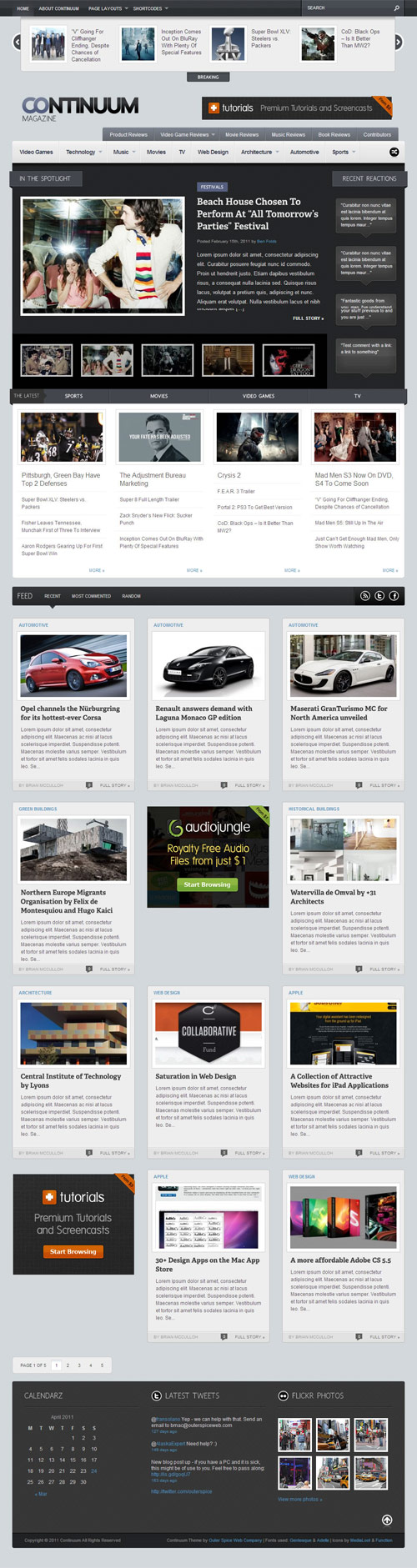 Continuum - Magazine WordPress Theme - great magazine wordpress themes