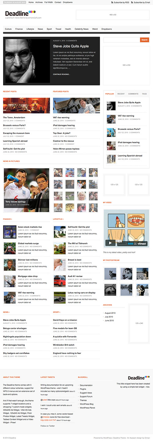 Deadline - Premium WordPress News / Magazine Theme - great magazine wordpress themes