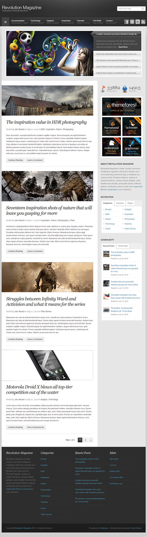 Revolution Magazine Theme - great magazine wordpress themes