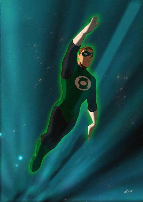 Green Lantern - Retro Superhero Art
