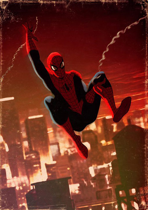 Spiderman - Retro Superhero Art