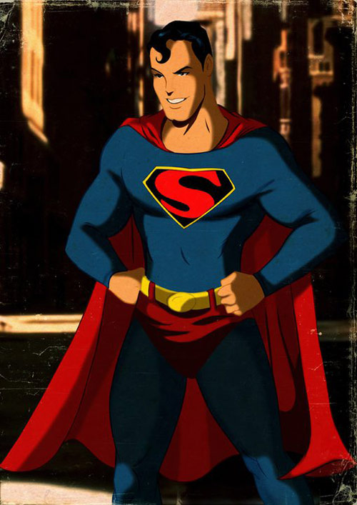 Superman - Retro Superhero Art