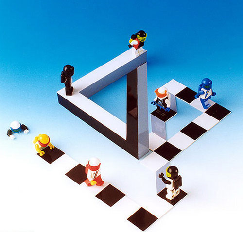 lego optical illusions