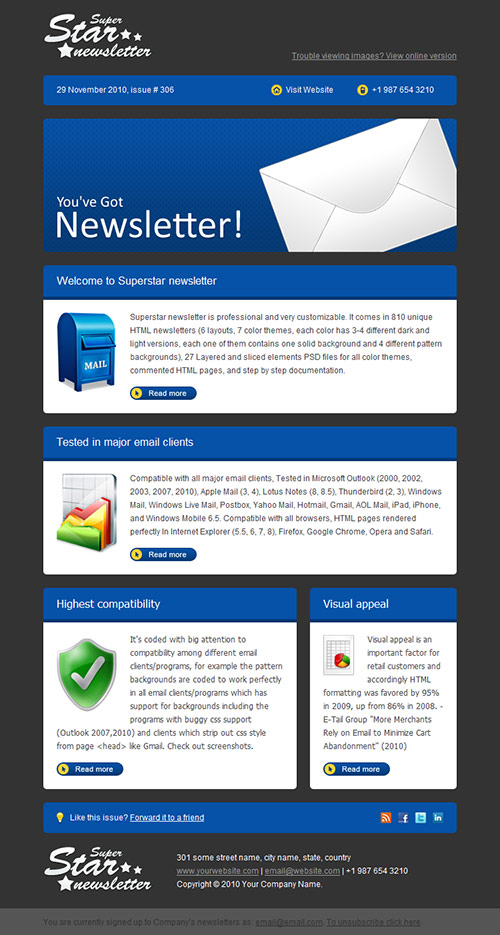 newsletter design showcase
