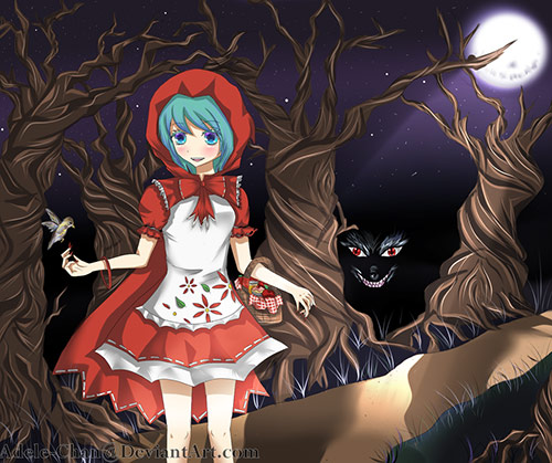 red riding hood artworks